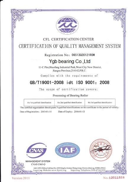 China YGB Bearing Co.,Ltd Certificações